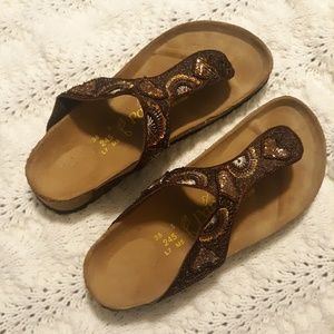 Papillo beaded gizeh birkenstock